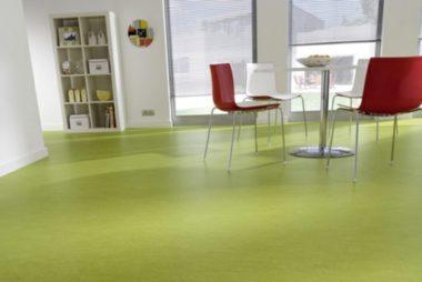linoleum-bodenbelag-fussbodenbelag-in-gruen-farbideen-esszimmer